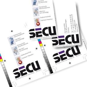 SECU business card close up